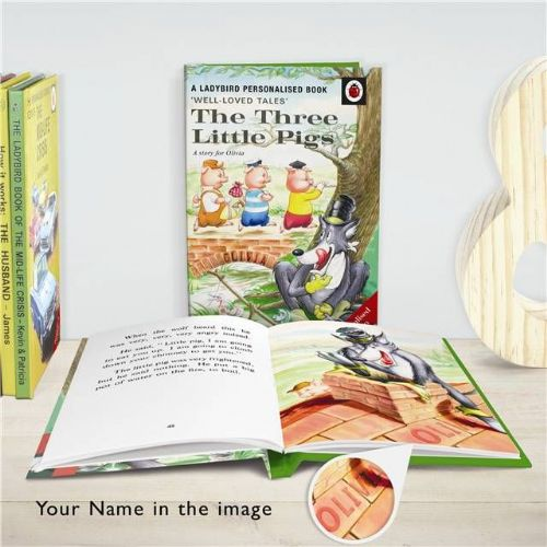 Personalised The Three Little Pigs: A Ladybird Book